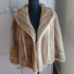 Vintage 70s Vegan Fur Tissavel of France Cape